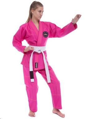 Кимоно для джиу-джитсу женское Hard Touch розовое (JJSL)