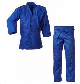 Кимоно для дзюдо Adidas Club J350 синее с черными полосами