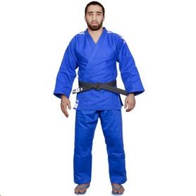 Кимоно для дзюдо Adidas Champion 2 IJF синее с белыми полосами