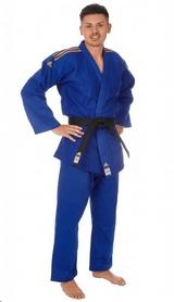 Кимоно для дзюдо Adidas Champion 2 IJF синее с золотыми полосами