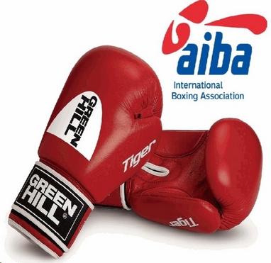Перчатки боксерские Green Hill Tiger (лицензия AIBA) красные