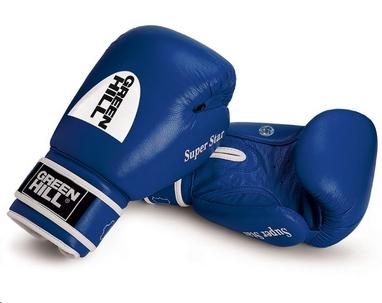 Перчатки боксерские Green Hill Super Star (лицензия AIBA) синие